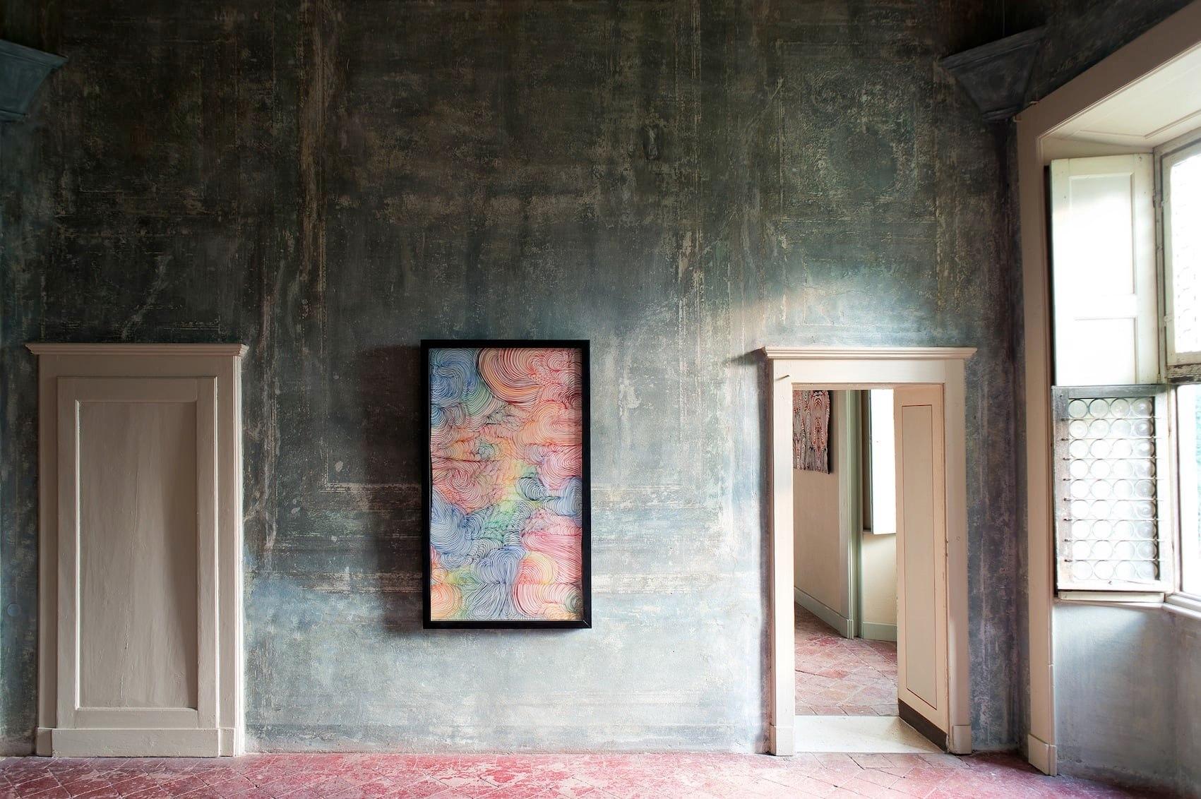 """Maurizio Donzelli, """"Mirror"""", 168x100x5,5cm, Palazzo Barbò, Torre Pallavicina (BG), a cura di Angela Madesani"""